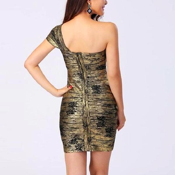 Gold Bodycon Dress