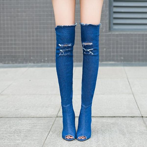 Estella Denim Boots