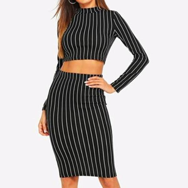 Claire Striped Crop Top