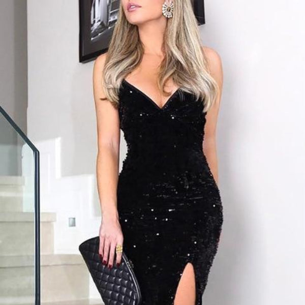 Maxi Sequined Dress