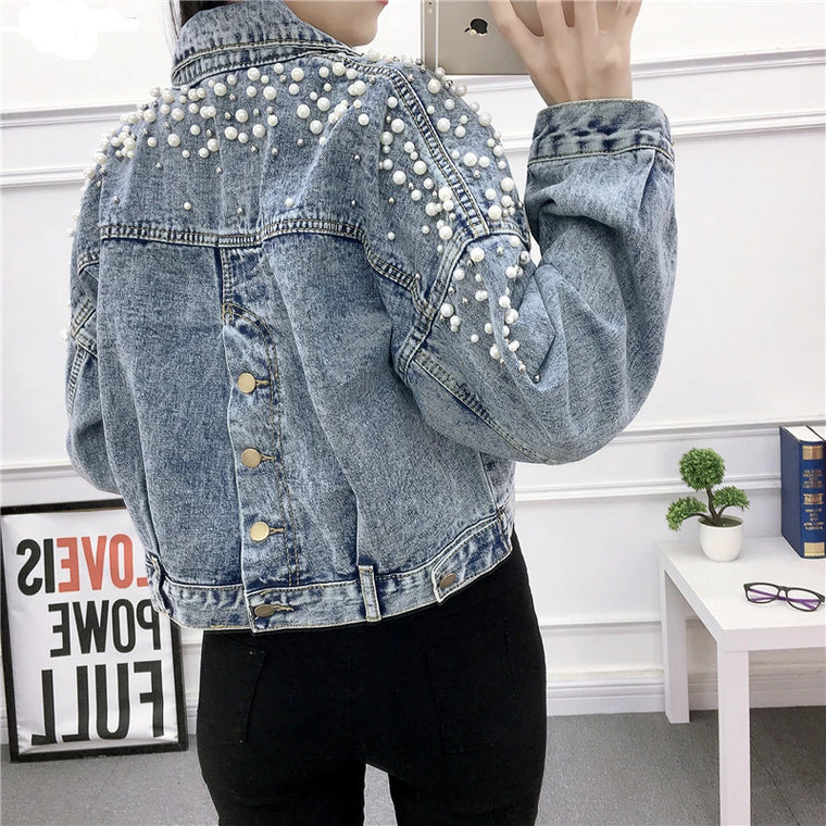 Pearl Denim Coat