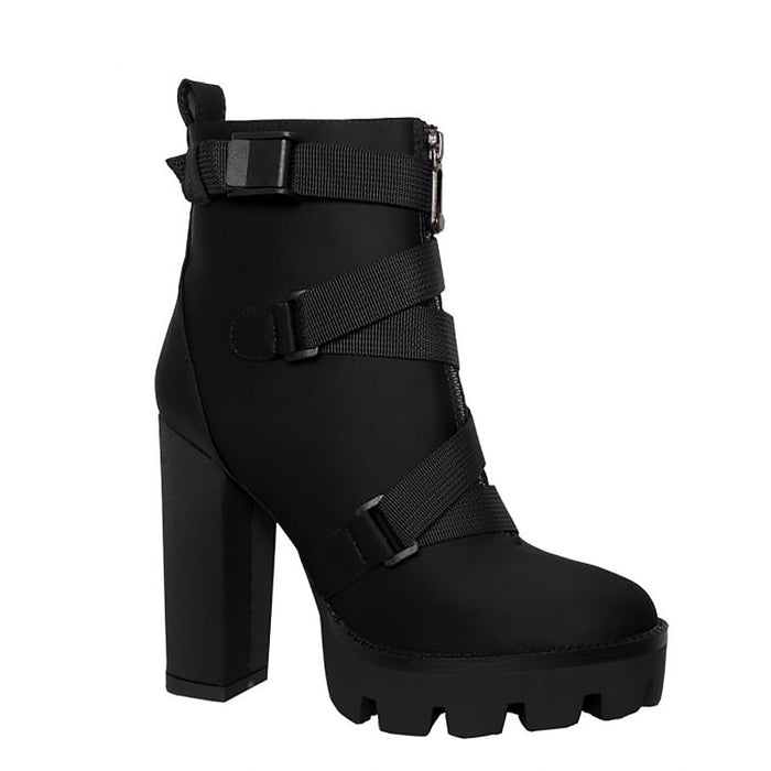 Ankle Cross Boots