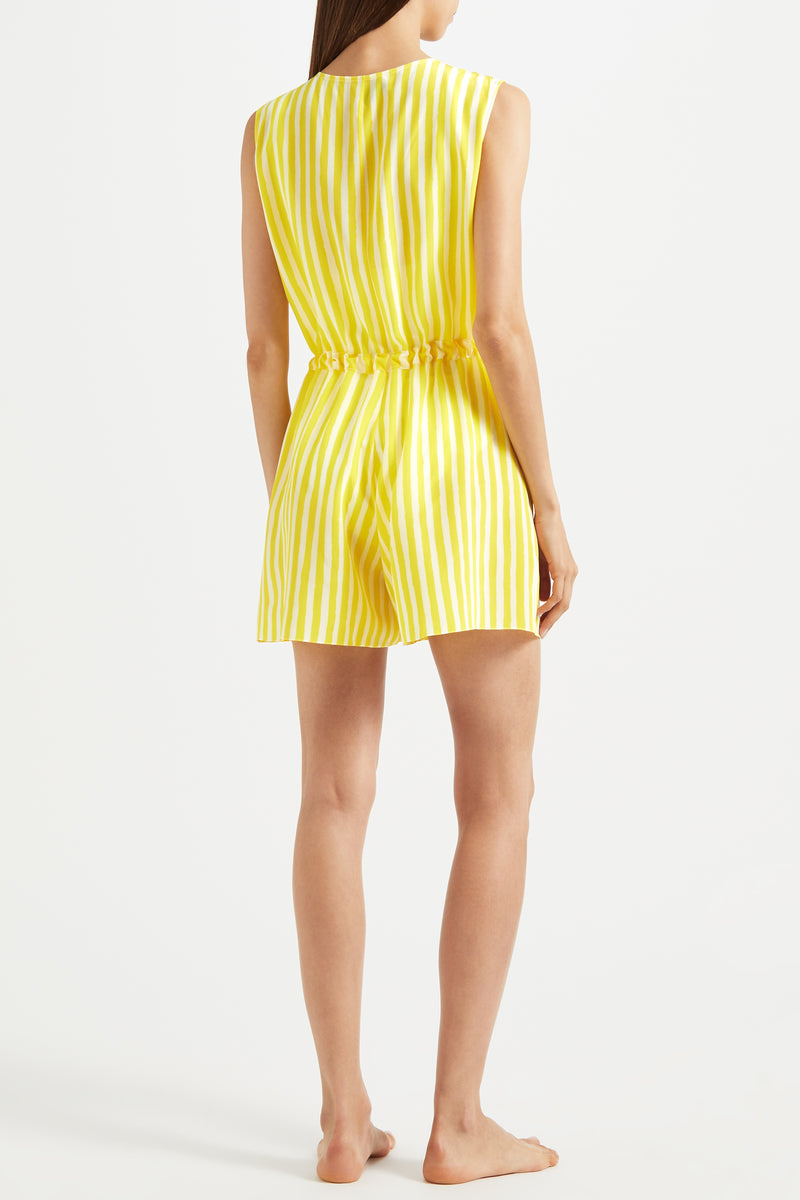 Kalmar Clara Playsuit in yellow stripe