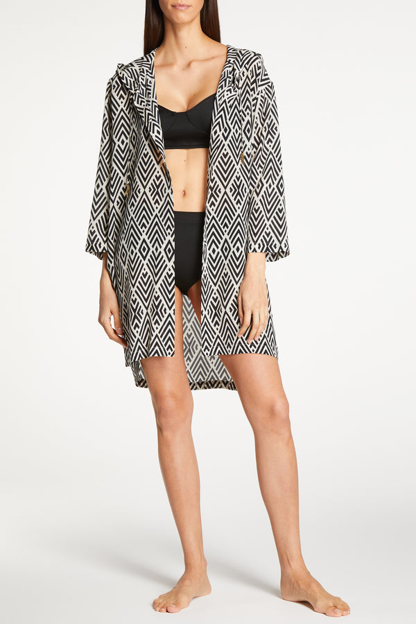 Kalmar Lamiya Deco Diamond Hooded Kaftan