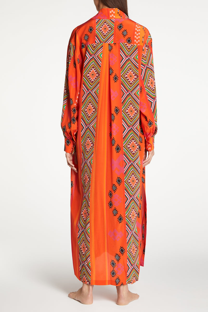 Kalmar Naila Tapestry Blouson Sleeve Dress