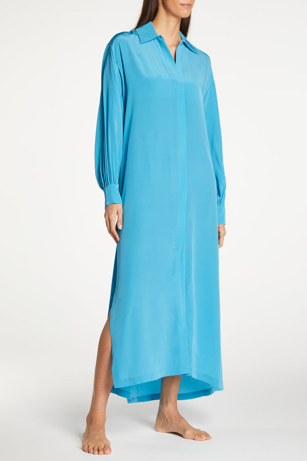 Kalmar Naila Aqua Blouson Sleeve Dress