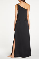 Kalmar Rania One Shoulder Black Dress