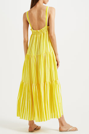 Kalmar Luna Dress in Yellow Stripe Mix