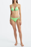 Kalmar bikini Inka Triangle Aqua Yellow Dot model