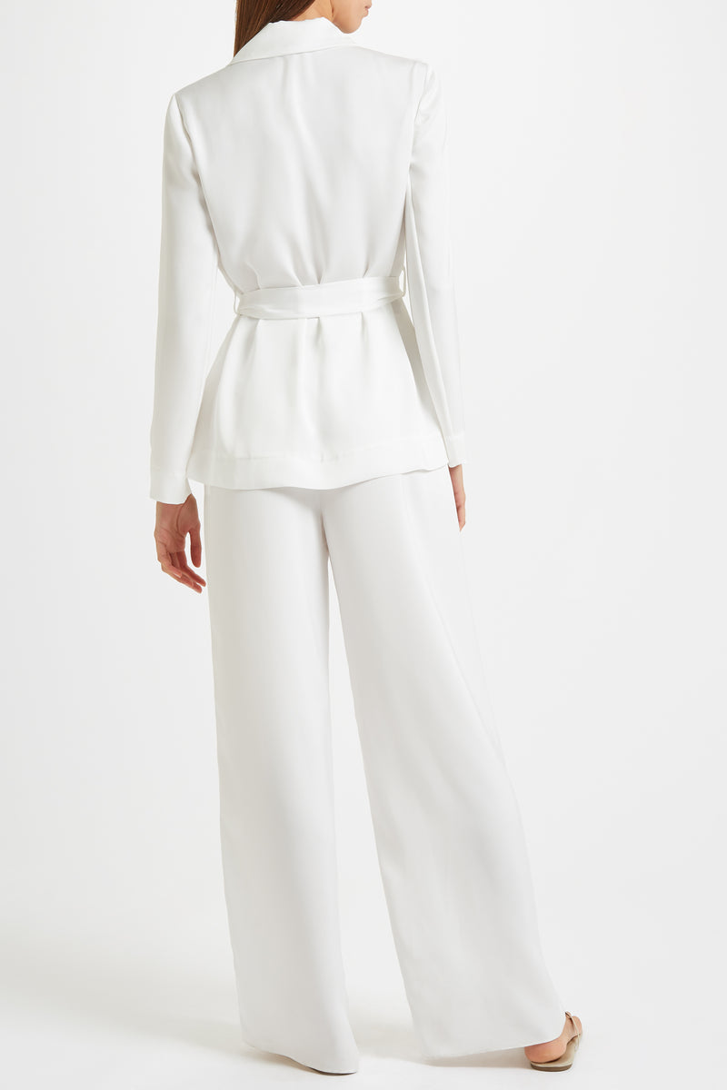 Kalmar Anouk Jacket in white poly satin