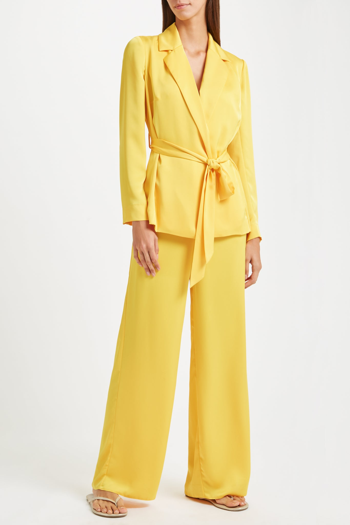 Kalmar Anouk Jacket in yellow poly satin