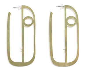 Long Face Earrings - Kalmar