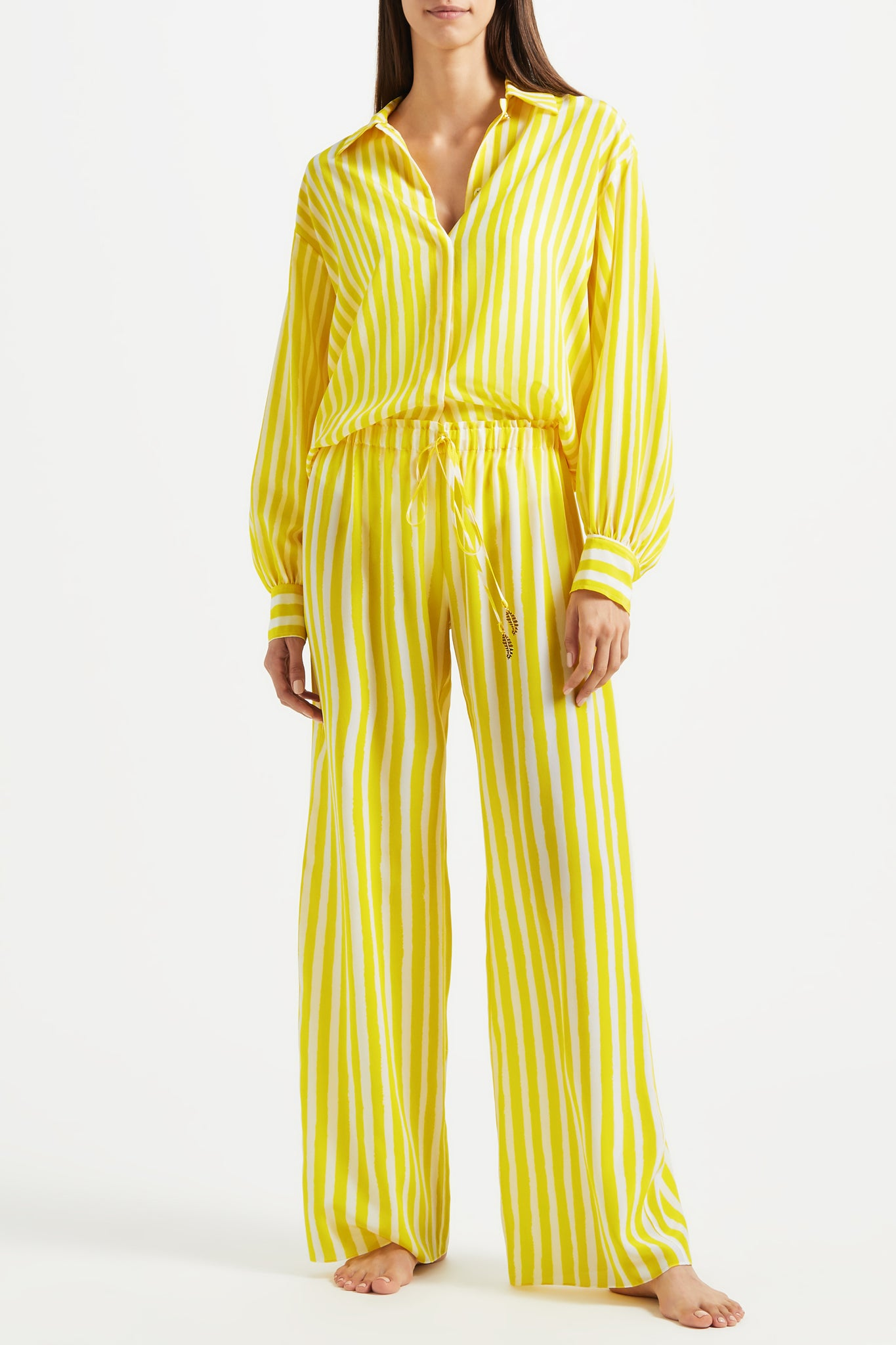 Kalmar Ayah trousers in yellow brush stripe