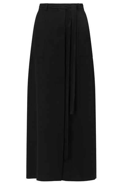 Long luxury black skirt in silk by kalmar for summer
