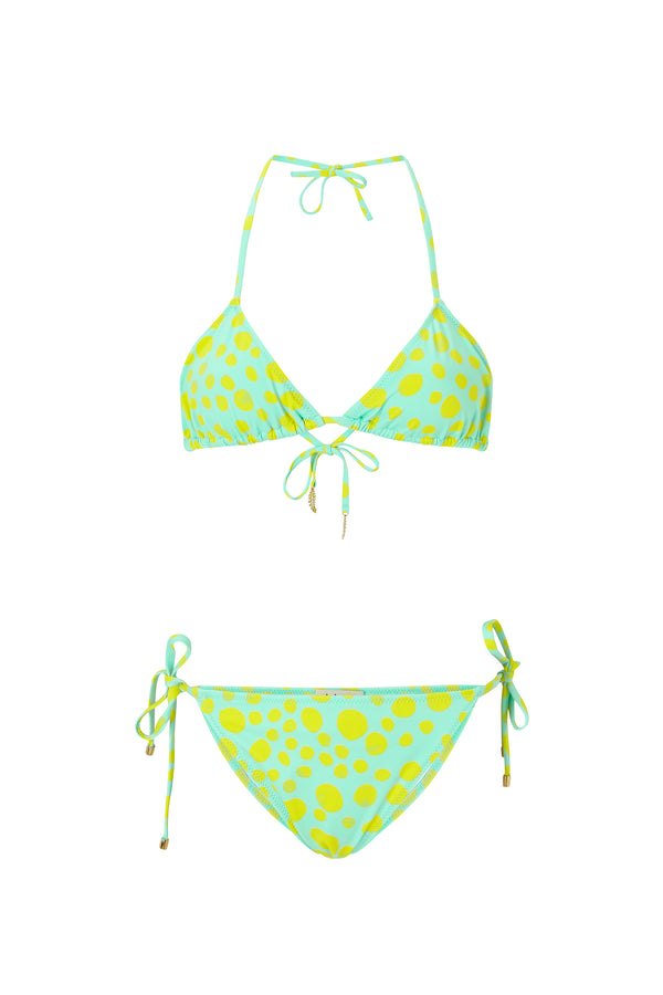 Kalmar bikini Inka Triangle Aqua Yellow Dot