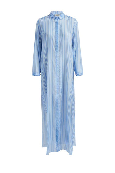 Maxi Kaftan with Mandarin Collar