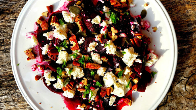 beetroot, goat's cheese & pecan salad.