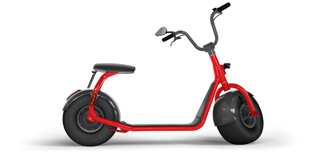 Elektroroller SCROOSER Juicy Red PURE, Lifestyle Premium Escooter Made in Germany mit 25 km/h Spitzengeschwindigkeit und Straßenzulassung, 55 km Reichweite