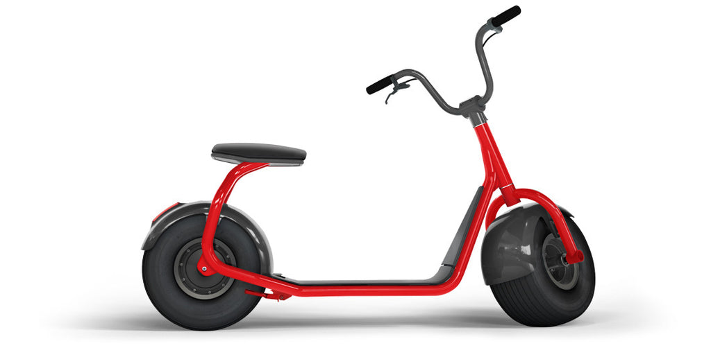 Elektroroller SCROOSER Juicy Red PURE, Lifestyle Premium Escooter Made in Germany mit 25 km/h Spitzengeschwindigkeit, ohne Straßenzulassung, 55 km Reichweite