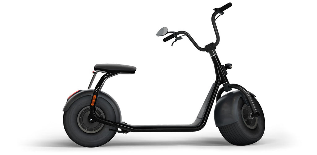 Elektroroller SCROOSER Pitch Black PURE, Lifestyle Premium Escooter Made in Germany mit 25 km/h Spitzengeschwindigkeit und Straßenzulassung, 55 km Reichweite