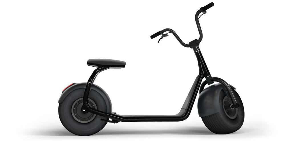 Elektroroller SCROOSER Pitch Black PURE, Lifestyle Premium Escooter Made in Germany mit 25 km/h Spitzengeschwindigkeit, ohne Straßenzulassung, 55 km Reichweite