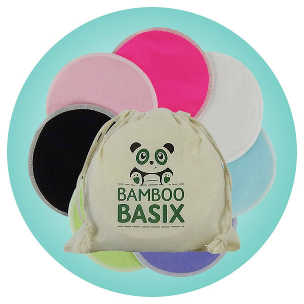 Reusable Bamboo Breast Pads - 7 pairs + wash bag - Bamboo Basix