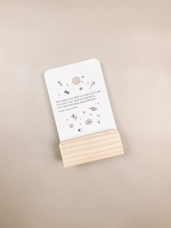 Pregnancy, Birth and Beyond Affirmation Cards with Stand - Bamboo Basix