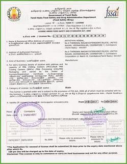 AathithyaHerbal-FSSAI-Certification