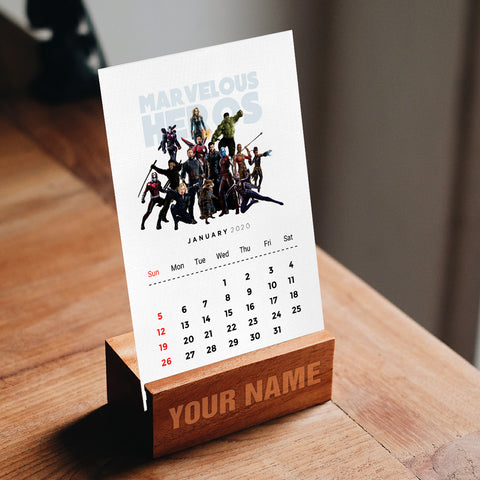 Marvel Desk Calendar
