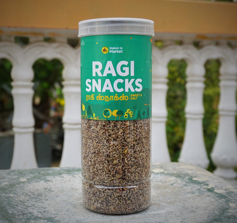 Ragi Snacks with Sweet - No Preservatives - No Artificial Colors - Natural Snacks
