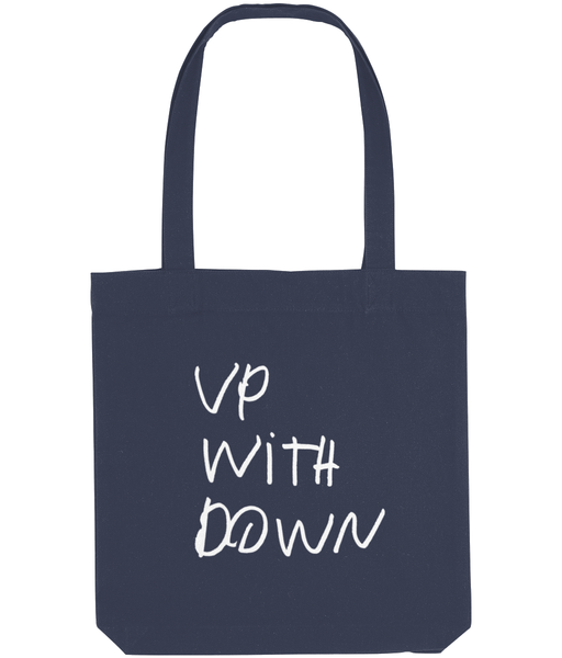 Tote Bag Up With Down White