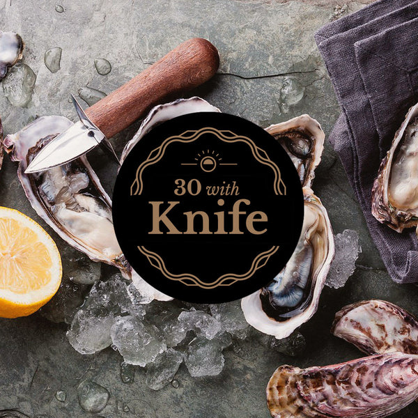 Dorset Oysters: 30 with Oyster Knife