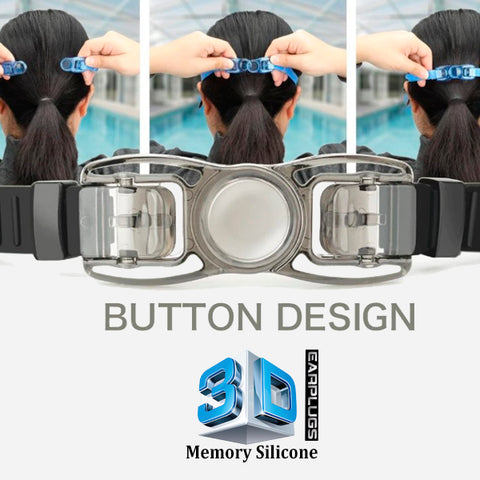 3D Memory Silicone Swim Goggles with Earplugs 10