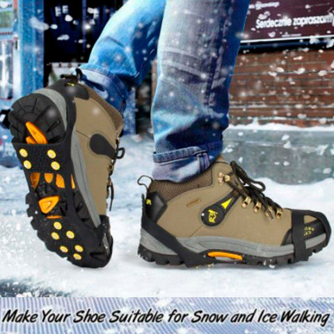 Anti-Skid Gripper Crampons Overshoes for Snow & Ice 2