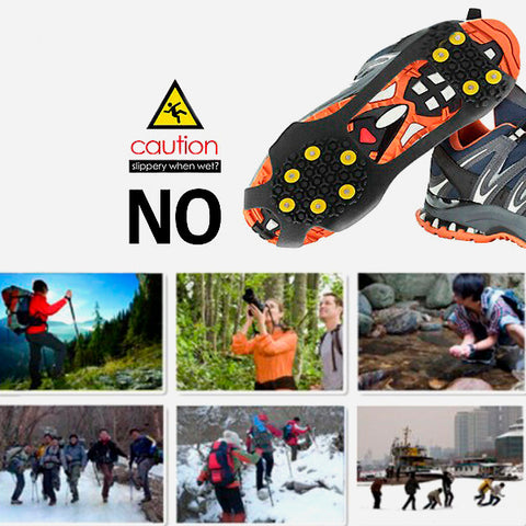 Anti-Skid Gripper Crampons Overshoes for Snow & Ice 9