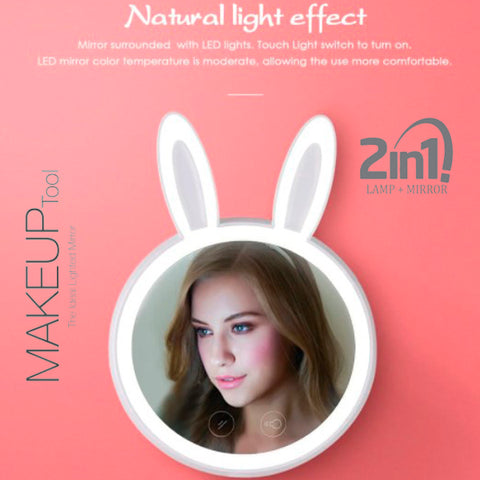 Bunny Style LED Makeup Mirror 7
