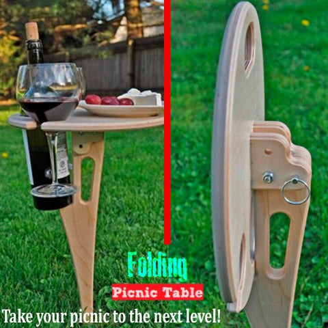 Clever Foldable Outdoor Round Cocktail Table 8