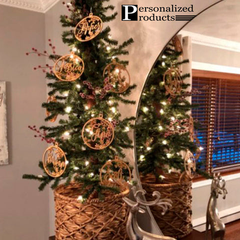 Customized Wooden Christmas Tree Hanging 4
