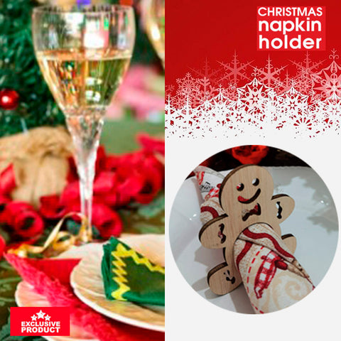 Exclusive Wooden Christmas Napkin Holders 5
