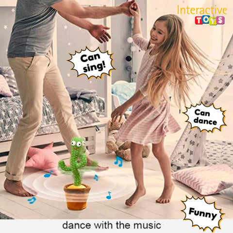 Interactive Twisted Dancing Cactus Plush Toy 4