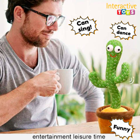 Interactive Twisted Dancing Cactus Plush Toy 5