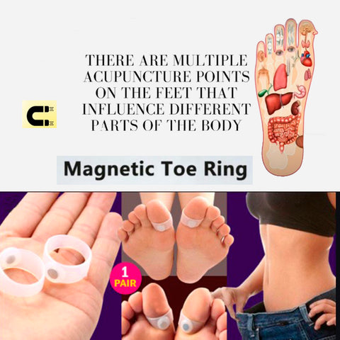 Magnetic Acupressure Foot Toe Rings 3a