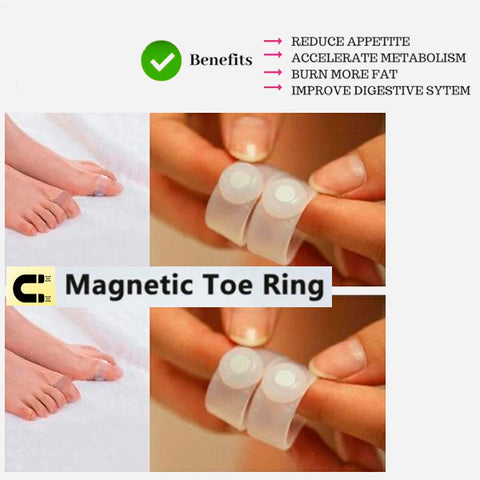 Magnetic Acupressure Foot Toe Rings 4a