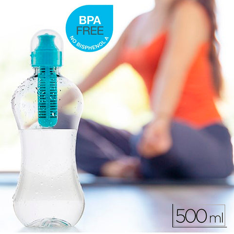 Portable Water Purification Bottle with Carbon Filter 2