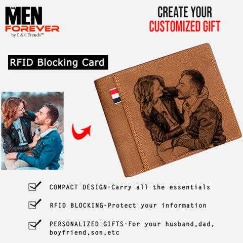 RFID Personalized Engraved Photo Wallet 2