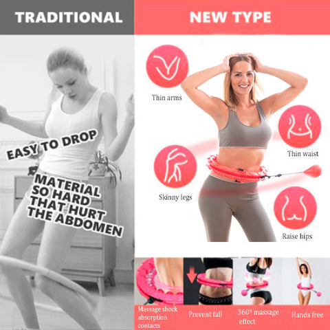 Smart Auto-Spinning Hula Hoop for Fitness 16b