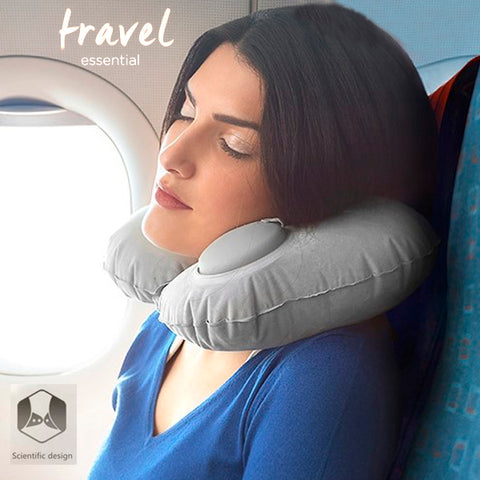 Travel Automatic Press Inflatable Neck Cushion 5