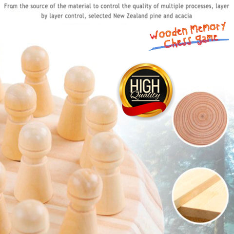 Wooden Memory Didactic Chess Game 4