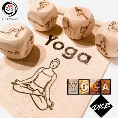 Wooden Yoga Poses Dice Game 4