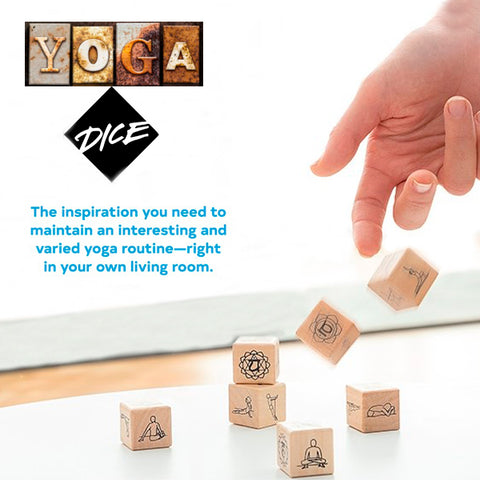 Wooden Yoga Poses Dice Game 5